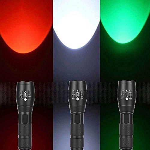 Super Hell LED Taschenlampe, Siswong 3 Farbe 20000LM Einstellbarer Fokus Jagd Flashlight Handlamp Laternen Stirnlampe