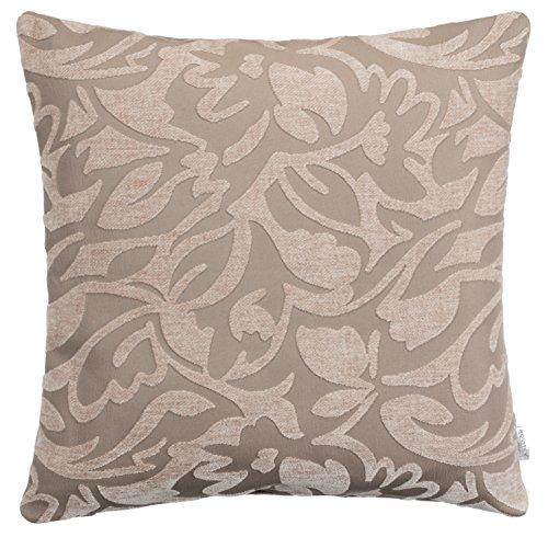 Brandsseller - cuscini decorativi da divano con motivo jacquard– con imbottitura, 40 cmx 40 cme 50 cmx 50cm–7colori assortiti, poliestere, tortora / grigio, 40 x 40 cm