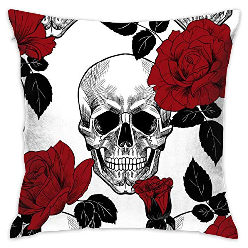 Fun Life Art Kissenbezug Sugar Skull Rote Rose Benutzerdefinierte Maus Pad18 * 18
