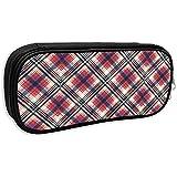 Pouch Bag Pouch Red Check Pixel Plaid Seamless Pattern Astuccio Astuccio Per Trucco Borsa Cosmetica
