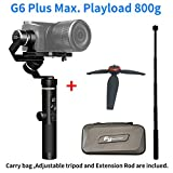 Feiyutech G6 Plus 3-Axis Brushless Handheld Gimbal Stabilizer Splash-Proof 800g Payload 12 Hours Running Time for Smartphone,Action Camera Gopro,Digital Cameras,Including Tripod and Extension Rod