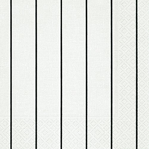 Streifen weiß schwarz (Home white/ black)1/4 gefalzt, 3-lagig Größe offen: 33x33 ()
