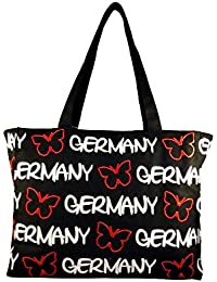 b95f49964f Robin Ruth Canvas Schultertasche Germany in schwarz/rot (Maße: LxHxT ca. 36