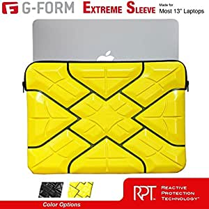 G-Form EXTREME-SLEEVE Ruggedized Protective Case for most 13-inch Laptop & Ultrabooks [Yellow-Black]