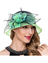 Mujer fascinador derby Cloche Hats Vestido de la iglesia británica Sombrero  de copa S051 c80f3e851040