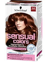 Sensual Colors dauerhafte Coloration, 568 Mahagoni, 3er Pack (3 x 1 Stück)