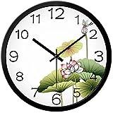 Chinese Wind Lotus Reloj De Pared Dormitorio Creativo Mute Reloj De Moda Reloj De Cuarzo,A1