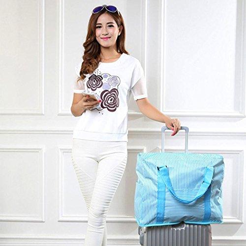 GEESENSS Große Aufbewahrungstasche Reise Wasserdichte Lagerung Schultertasche Gepäck Organizer Handtasche Reisetasche (Himmelblau) Lagerung Reisetaschen
