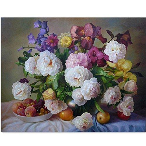 Bluelover Fai da te olio su tela di numeri fresco fiore pittura a olio digitale (Giardino Insalata Fresca)