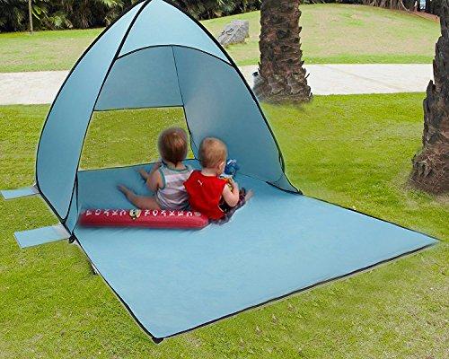 Tecare Pop Up Zelt Anti-UV 50+ für 3-4 Personen / Camping / Rucksack / Wandern / Leichte / Einfache Einrichtung Outdoors Beach Zelt Shelter (light blue with tarps, 2-3 person(M)) Kelty Kids Rucksack Rucksack