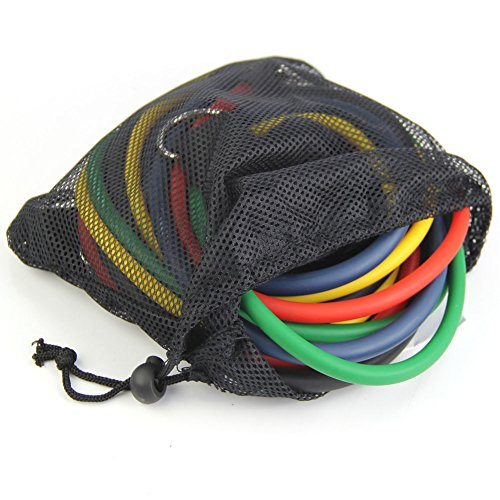OUTERDO Training Resistance Bands Set ,PC Latex Rope Tube
