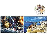 أحجية من 1000 قطعة من سانجمي + أحجية من 1000 قطعة من أحجية رسم بحر إيجيان للبالغين والأطفال - لعبة أحجية تركيب صور تعليمية للأسرة وديكور المنزل