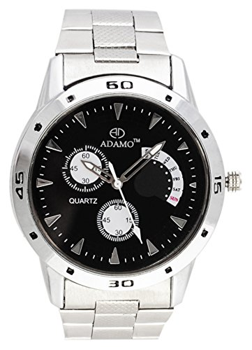 Adamo Black Dial Men's  Wrist Watch AD107