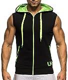 LEIF NELSON Gym Herren Fitness Trainingsjacke Kapuze Slim Fit | Männer Kapuzenjacke Trainingsshirt | Bodybuilder Sportjacke Hoodie | Bekleidung Training Bodybuilding | LN20150494