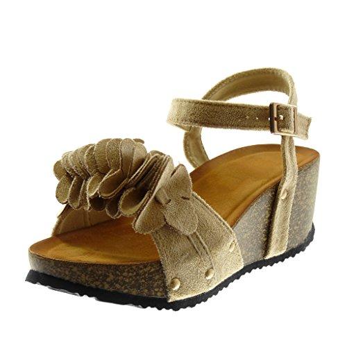 Nero 40 EU Angkorly Scarpe Moda Sandali con Cinturino Alla Caviglia Donna hnw