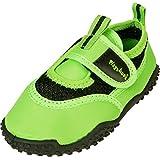Playshoes Unisex-Kinder Aquaschuhe, Badeschuhe Neonfarben mit UV-Schutz