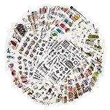 MAPLE Pacchetto Adesivi Decorativi per Adulti 1500+ Disegni 72 Fogli 13 temi Adesivi di Carta Washi Adesivi decori Assortiti Adesivi Adesivi Graffiti Patches (Tempo Libero)