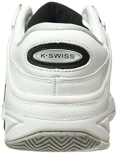 K-Swiss Performance Defier RS, Chaussures de Tennis Homme Blanc (White/black)