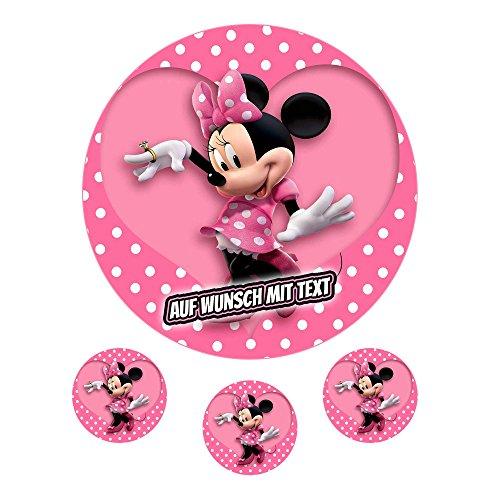 Tortenaufleger Geburtstag Tortenbild Zuckerbild Oblate Motiv: Disney Minnie Maus (Zuckerpapier)
