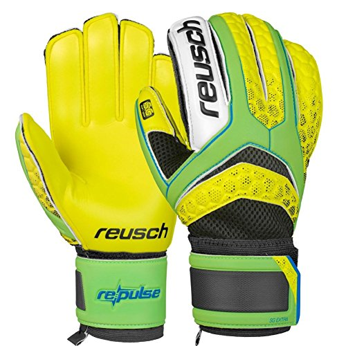 Re:Pulse SG Extra Goalkeeper Gloves - Green Gecko/Safety Yellow - size 7.5 (Glove Tec)