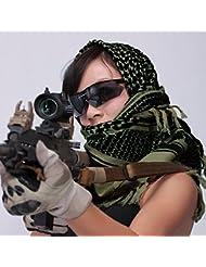 Vktech ® Armée Military Tactique Arab Shemagh Keffieh Châle Foulards Wrap Vert D'armée