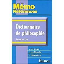 MEMO REFER. DICT.DE PHILOSOPHIE    (Ancienne Edition)
