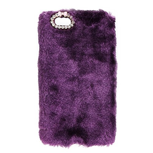 BING Für IPhone 6 Plus / 6s Plus, Faux Pelz PC Schutzhülle BING ( Color : Grey ) Purple
