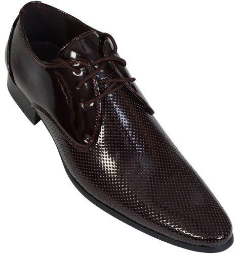 Voeut , Chaussures de ville à lacets pour homme Rouge - Cherry