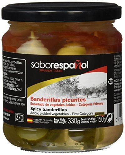 Sabor Español - Banderillas picantes, 330 g, Pack de 6
