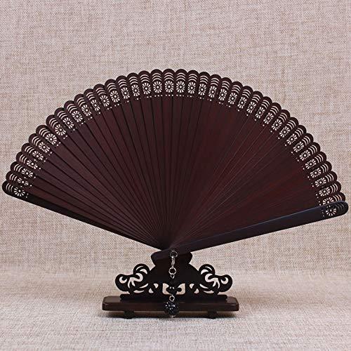Crimson Damen Kostüm - XIAOHAIZI Handklappventilator,All Bamboo Hollow Crimson Summer Folding Fan Chinese Classical Ladies Wall Decoration Dance Fan
