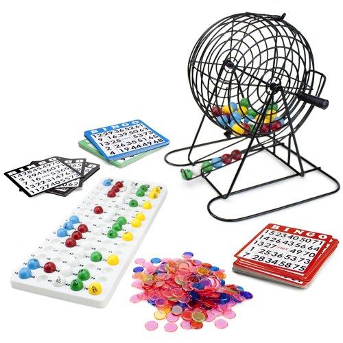 Royal Bingo Supplies Jumbo Bingo Spiel mit 100Bingo Karten, 500Bingo Chips und 22,9cm Drum (Bingo-käfig Set)