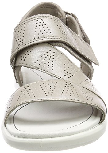Ecco Soft 5, Spartiates Femme Argent (Moon Rock/silver)