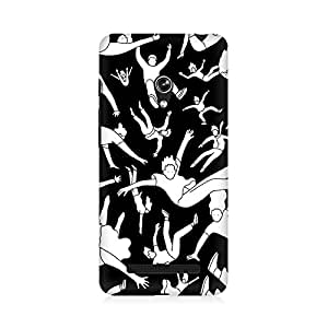 RAYITE People Pattern Premium Printed Mobile Back Case Cover For Asus Zenfone 5