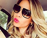 YLNJYJ Lunettes De Soleil Carrées Hommes Flat Top Hot Femmes Marque De Design Couple Dame Célébrité Brad Pitt Lunettes De Soleil Super Star Lunettes