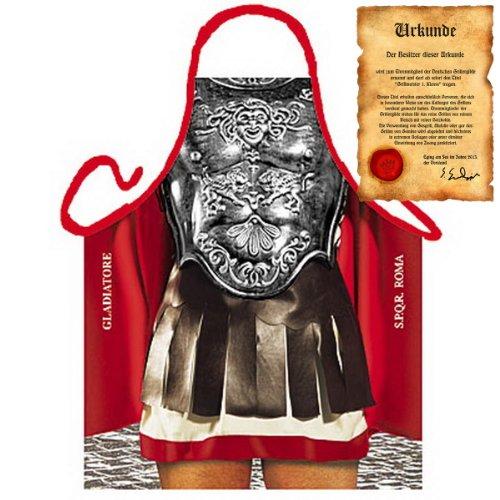 Italienisch Kochen - la Cucina Italiana Grembiule mit Schürze: Gladiator - Schürze Mediterrane Küche one Size Fb bunt mit Geschenk-Urkunde : ()