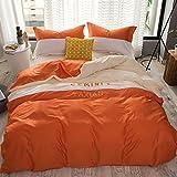Einfache Konstellation Stickerei alle Baumwolle eine ausgestattet Vier Stück Twill Baumwolle Bettwäsche Steppdecke doppel Betten 1.8/2.0m Bett, Zwillinge, 1,5 m (5 Fuß) Bett