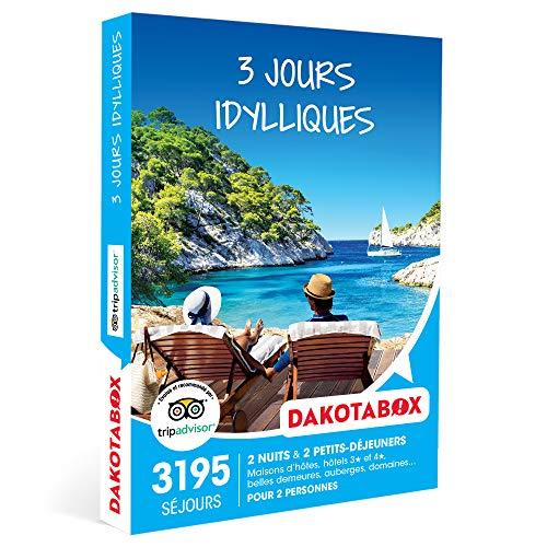 DAKOTABOX - 3 jours idylliques - Coffret Cadeau Séjour - 2 nuits avec...