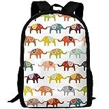best& Vintage Circus Elephant College Laptop Backpack Student School Bookbag Rucksack Travel Daypack
