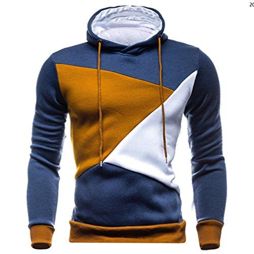 Blue Vessel Herren-Winter-dünner Hoodie-mit Kapuze Sweatshirt-Mantel-Jacken-Outwear-Pullover-Strickjacke Marine