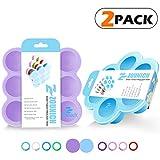 Silikon Baby Food Storage Gefrierschrank Container - Baby Brei Lagerung - keine BPA und FDA genehmigt - Baby Milch und Eiswürfel