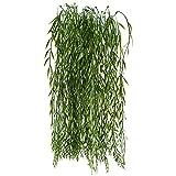 HUAESIN Hängend Hängepflanze Künstlich plastikpflanzen weide Baum Pflanze grünpflanzen reben Künstlich für Außen Garten Balkon Girlande heiratsantrag deko 2 Pcs