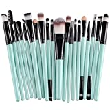 Liroyal 20pcs Make Up Sets Soft Powder Foundation Eyeshadow Eyeliner Lip Makeup Brushes
