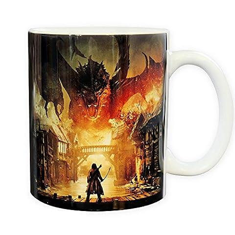 Der Hobbit die Schlacht der fünf Heere - Keramik Tasse - Smaugs Laketown - toll und stabil verpackt in einer