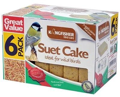 Kingfisher Bird Care 6 Pack High Energy Suet Cake