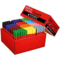 Berol ColourBroad Fibre Tip Pens, Broad Point (1.7mm), Assorted Colours, Pack of 288
