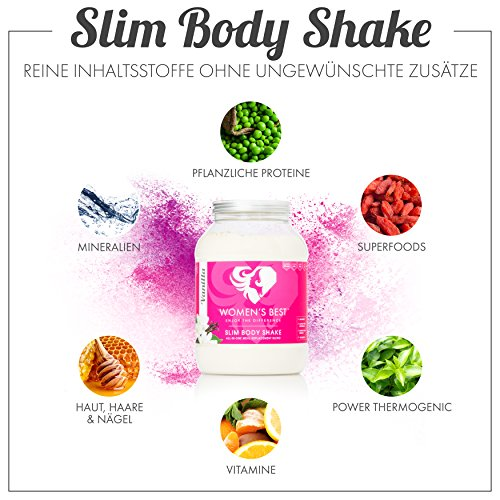 Meal Replacement Shake for Women with 200 Kcal – With Vegetable Protein for Weight loss – Slim body Shake – 1.2 Kg – COOKIES & CREAM