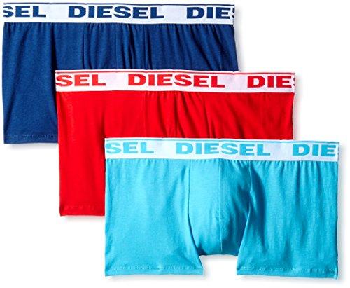 DIESEL Herren UMBX-SHAWN Boxershorts, 3er Pack Mehrfarbig (Blue/Red/Light Blue 13)