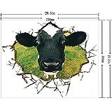 ALLDOLWEGE Die Stereoanlage Wandmalerei Kinderzimmer 3D Wall Art Decor Kunst Gemälde von Kühen. Galerie