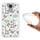 WoowCase Doogee Y6 4G Hülle, Handyhülle Silikon für [ Doogee Y6 4G ] Tiere Giraffe, AFFE und Nashorn Handytasche Handy Cover Case Schutzhülle Flexible TPU - Transparent