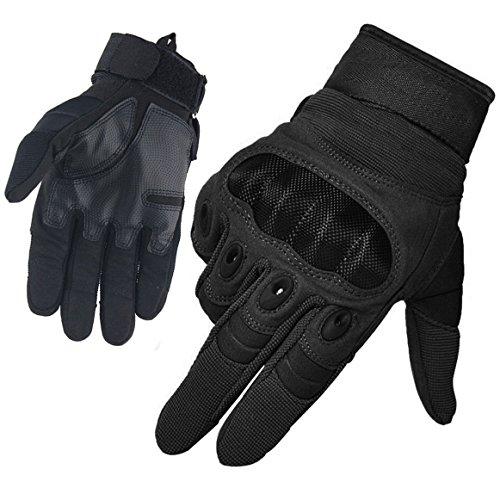 Limirror Herren Taktische Handschuhe Handschuhe Fahrradhandschuhe Motorrad Handschuhe outdoor sport Handschuhe Fitness Handschuhe Army Gloves Ideal für Airsoft, Militär, Paintball, Airsoft, Jag (Schwarz, L)